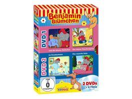 Benjamin Bluemchen DVD Box Und die blauen Elefanten Der kleine Flaschengeist Im Krankenhaus Das rosarote Auto 2 DVDs