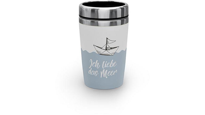 Geschenk für Dich Thermo To-Go 240 ml Ich liebe das Meer