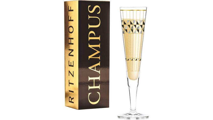 RITZENHOFF Champus Champagnerglas B. Neie (Artdeko) H19