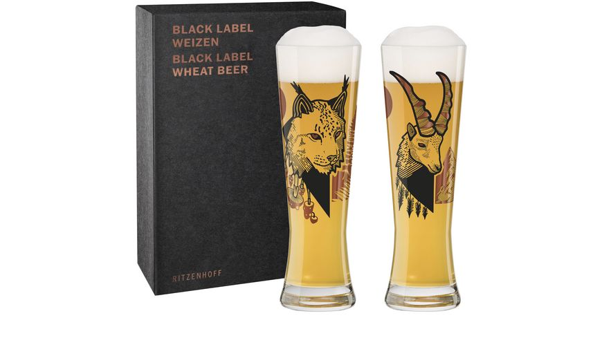 RITZENHOFF Black Label Weizenbierglas 2er D. Fatemi F20