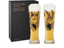 RITZENHOFF Black Label Weizenbierglas 2er D Fatemi F20