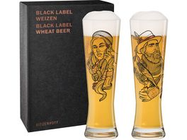 RITZENHOFF Black Label Weizenbierglas 2er V Bott F20