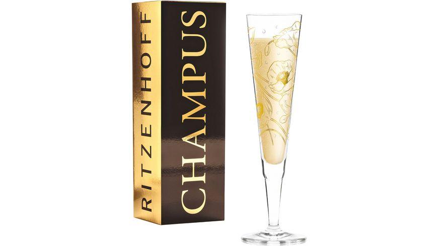 RITZENHOFF Champus Champagnerglas S. Warren H19
