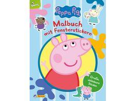 Peppa Malbuch mit Fensterstickern Kinderbeschaeftigung ab 3