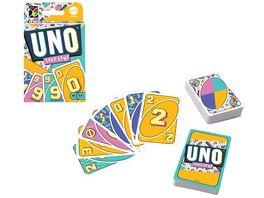 Mattel Games UNO Iconic Series 1990 s Jubilaeumsedition Kartenspiel ab 7 Jahren