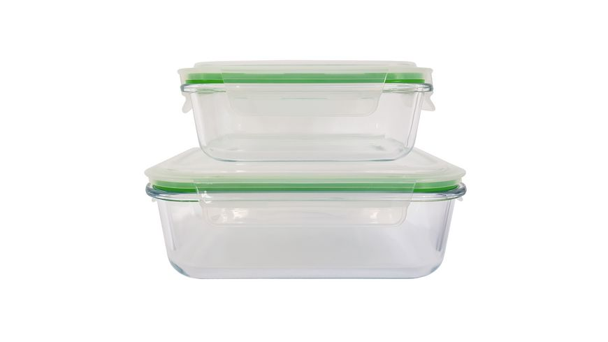 CleanPac Vorratsdosen Set Glas-Klickbox 2-tlg
