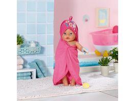 Zapf Creation BABY born Bath Kapuzenhandtuch Schwamm