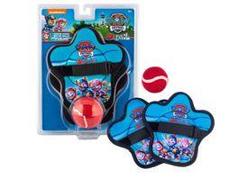 Spin Master PAW Patrol Klettballspiel fuer Kinder ab 4 Jahren mit 2 Fangscheiben und 1 Klettball