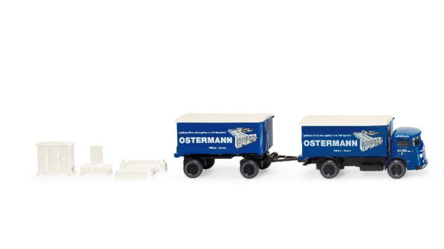 """WIKING 847602 - 1:87 Büssing 4500 Möbelwagen """"Ostermann"""""""