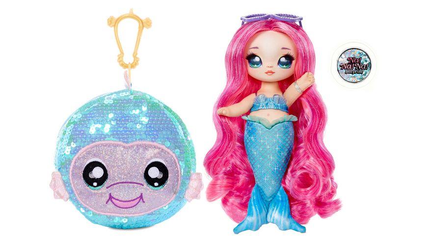 Na Na Na Surprise Sparkle Series 1 2 in 1 Surprise Funkelndes Pom mit Wende Pailetten und Fashion Puppe