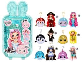 Na Na Na Surprise Sparkle Series 1 2 in 1 Surprise Funkelndes Pom mit Wende Pailetten und Fashion Puppe