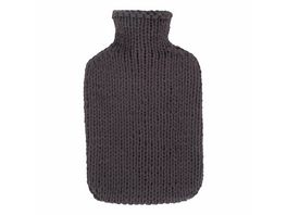 fashy Waermflasche mit Strickbezug grau 2l