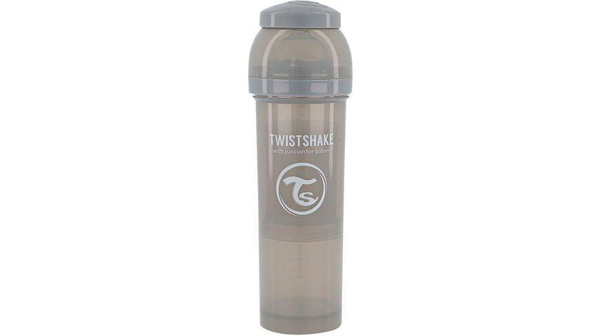 Twistshake Anti-Koliken Babyflasche Pastell Grau 330ml