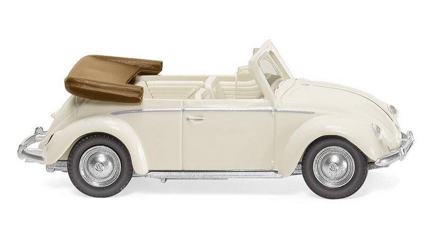 WIKING 079405 -  1:87 VW Käfer 1200 Cabrio - perlweiß
