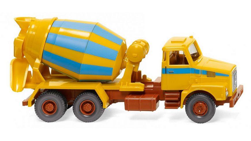WIKING 068207 -  1:87 Betonmischer (Volvo N10) - maisgelb/hellblau