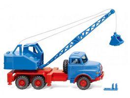 WIKING 066206 1 87 Kranwagen MAN Fuchs himmelblau