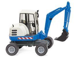 WIKING 065807 1 87 Mini Bagger blau