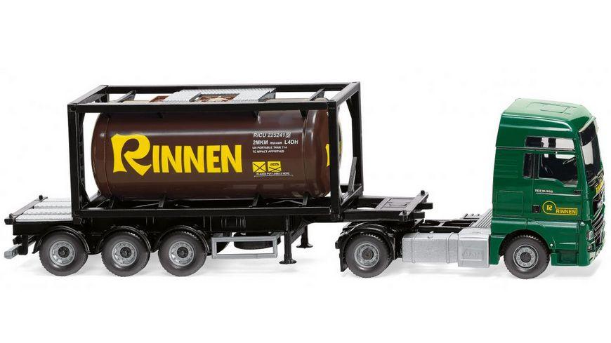 "WIKING 053606 -  1:87 Tankcontainersattelzug 20' (MAN TGX Euro 6c) ""Rinnen"""