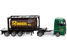 WIKING 053606 1 87 Tankcontainersattelzug 20 MAN TGX Euro 6c Rinnen