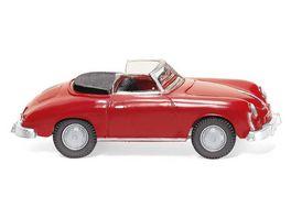 WIKING 016003 1 87 Porsche 356 Cabrio signalrot