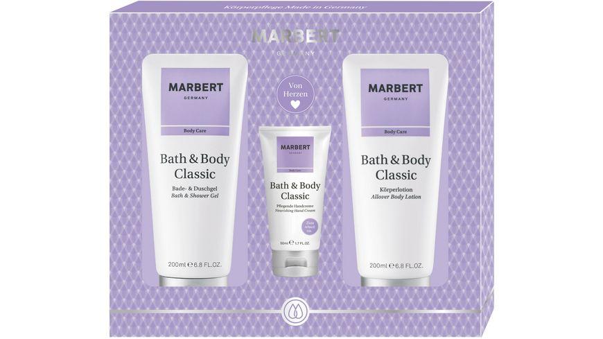 MARBERT Bath & Body Classic Set Körperlotion + Bade- & Duschgel + Handcream
