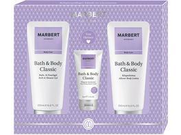 MARBERT Bath Body Classic Set Koerperlotion Bade Duschgel Handcream