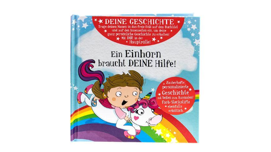 H&H Märchenbuch Einhorn blanko