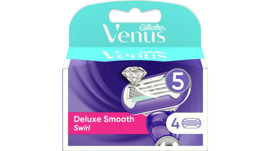 Venus GILLETTE Klingen Deluxe Smooth Swirl System 4er