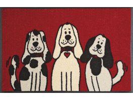 wash dry Fussmatte Three Dogs 50x75cm