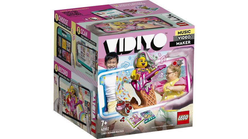 LEGO VIDIYO 43102 Candy Mermaid BeatBox Music Video Maker Musikspielzeug