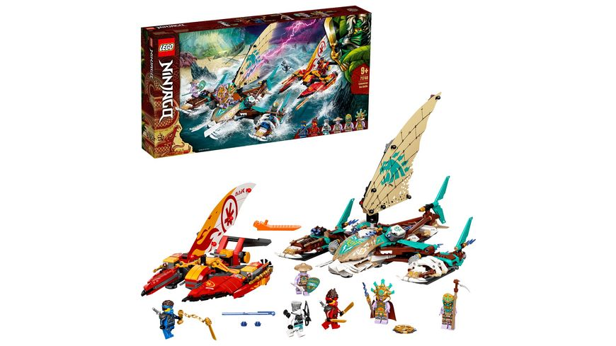 LEGO NINJAGO 71748 Duell der Katamarane, Bauset