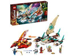 LEGO NINJAGO 71748 Duell der Katamarane Bauset