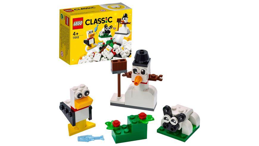 LEGO Classic 11012 Kreativ-Bauset mit weißen Steinen, Bauset