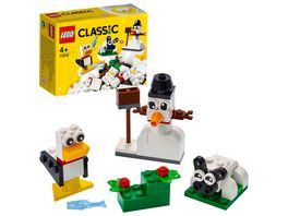 LEGO Classic 11012 Kreativ Bauset mit weissen Steinen Bauset