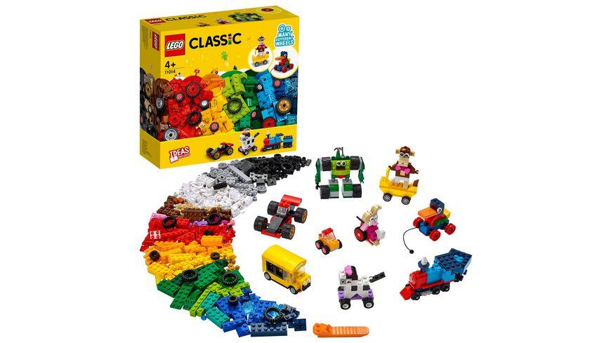 LEGO Classic 11014 Steinebox mit Rädern, Bauset