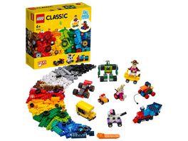 LEGO Classic 11014 Steinebox mit Raedern Bauset