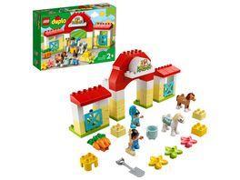 LEGO DUPLO 10951 Pferdestall und Ponypflege Bauspielzeug