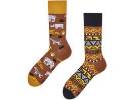 MANY MORNINGS Unisex Socken Safari Trip