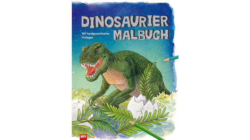 Dinosaurier - Malbuch - Mit handgezeichneten Vorlagen