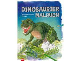 Dinosaurier Malbuch Mit handgezeichneten Vorlagen