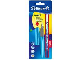 Pelikan Promo Pack Twist Fuellhalter Tintenloescher Super Pirat Design Edition