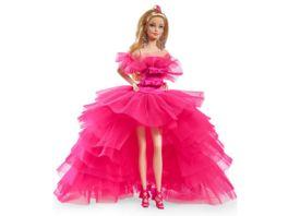 Barbie Signature Pink Collection Silkstone Barbie Puppe mit Abendkleid aus Tuell
