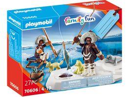 PLAYMOBIL 70606 Family Fun Geschenkset Eisangler