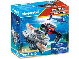 PLAYMOBIL 70145 City Action Seenot Tauchscooter im Rettungseinsatz