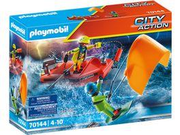 PLAYMOBIL 70144 City Action Seenot Kitesurfer Rettung mit Boot