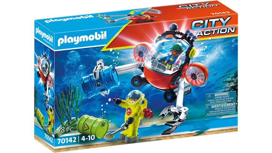 PLAYMOBIL 70142 - City Action - Seenot: Umwelteinsatz mit Tauchboot