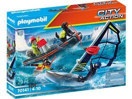 PLAYMOBIL 70141 City Action Seenot Polarsegler Rettung mit Schlauchboot
