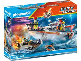 PLAYMOBIL 70140 City Action Seenot Loescheinsatz mit Rettungskreuzer