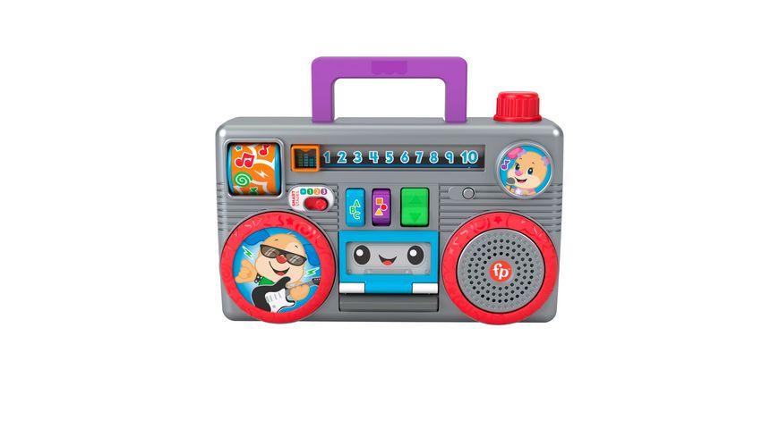 Fisher-Price Lernspaß Boombox mit Musik, Lernspielzeug ab 6 Monaten
