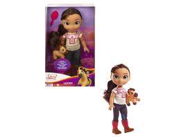 Spirit Kleinkind Puppe Lucky ca 36cm mit Spirit Plueschfigur und Buerste